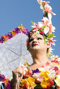 Flower Drag Queen against Blue Sky Stock Photography