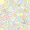Flower drawing pastel color seamless pattern Royalty Free Stock Photo