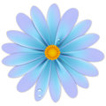 Flower with drops vector illustrations Royalty Free Stock Image