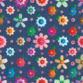 Flower effect symmetry seamless pattern