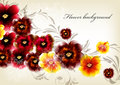 Flower elegant background Royalty Free Stock Images
