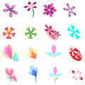 Flower Elements Design Royalty Free Stock Image