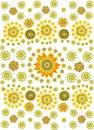 Flower ethnic background2 Royalty Free Stock Image