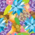 Flower fabric colorful seamless pattern