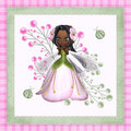 Flower Fairy 4 Dark Skin Royalty Free Stock Photography