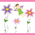 Flower fairy princess with wand Stock Photography