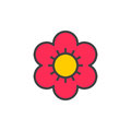 Flower Filled Outline Icon