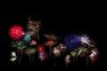 Flower fireworks isolated on black Stock Photo