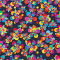 Flower five modern colorful leaf free seamless pattern Royalty Free Stock Photo