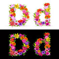 Flower font Stock Photos