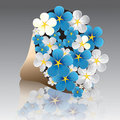 Flower forget-me-not Stock Images