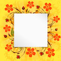 Flower frame with blank page vector background Royalty Free Stock Photography