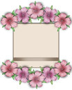 Flower frame. Floral border. Bouquet of pink pastel azalea with Royalty Free Stock Photo