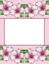 Flower frame. Floral border. Flowers of azalea