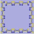 Flower frame floral border pattern weave beautiful