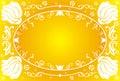 Flower frame, vector Royalty Free Stock Photo