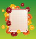 Flower frame  vector illustration Royalty Free Stock Photo