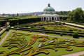 Flower garden of castle in kromeriz czech republic baroque park the geometric style french gardens Stock Photo