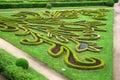 Flower garden of castle in kromeriz czech republic baroque park the geometric style french gardens Royalty Free Stock Photography