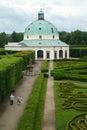 Flower garden of castle in kromeriz czech republic may baroque park the geometric style french gardens Stock Photo