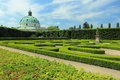 Flower garden in kromeriz czech republic Royalty Free Stock Image