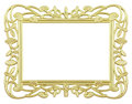 Flower gold frame Stock Photo