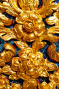 Flower in gold temple bangkok thailand incision of the window buddha Stock Photos