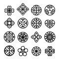 Flower graphic icon set