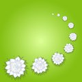 Flower green background realistic shadow file eps format Stock Image