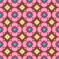 Flower/Heart Background Seamless Tile Stock Photo