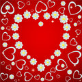 Flower heart frame Royalty Free Stock Photo