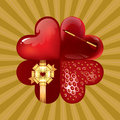 Flower of Hearts Royalty Free Stock Photos
