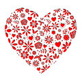 Flower Hearts Red Cutout Royalty Free Stock Photo
