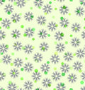 Flower and hexagon pattern. Seamless vector background