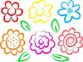 Flower icons Royalty Free Stock Photography