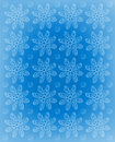 Flower impression frosted blue background image is with rows of soft white daisies whispy polka dots fill space between flowers Royalty Free Stock Photo
