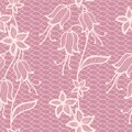 Flower lacy seamless background pink vintage vector illustration Royalty Free Stock Images