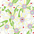 Flower Ladybird Seamless Pattern_eps Stock Photography