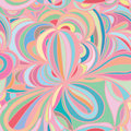 Flower leaf circle pastel seamless pattern