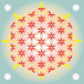 Flower of life in blue space Stock Photo