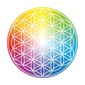 Flower Of Life Colorful Circular Rainbow Gradient