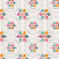Flower of life seamless pattern sacred geometry Stock Image