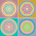 Flower of Life Set Stock Photography