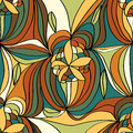 Flower line draw seamless pattern illustration abstract lines drawing colorful background design graphic Stock Photos