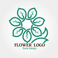 Flower Logo, Abstract, Geometric shape, Business