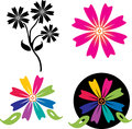 Flower logo vector illustration of Royalty Free Stock Photo