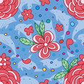 Flower love circle dolphin seamless pattern Royalty Free Stock Photo
