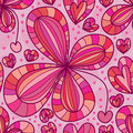 Flower love dropping seamless pattern Royalty Free Stock Photo