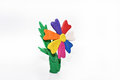 Flower made from plasticine.