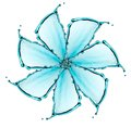 Flower made of water splash see my other works in portfolio Stock Photography